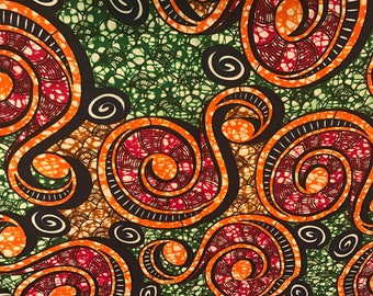 African wax fabric/Ankara Print/Sold by the yard/ Available in 6 yards