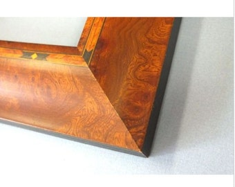 Walnut Veneer Inlay Picture Frame 4 x 6