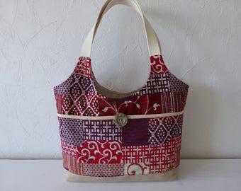 Bag in hand, fabrics, velvet, multicolored, patchwork effect, trend
