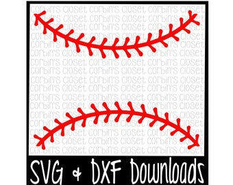 Baseball Thread SVG * Softball Thread SVG Cut File - dxf & SVG Files - Silhouette Cameo, Cricut