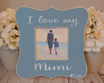 Mimi picture frame, custom picture frame,  grandma frame, mother's day gift, personalized picture frame, Mimi's blessings picture frame