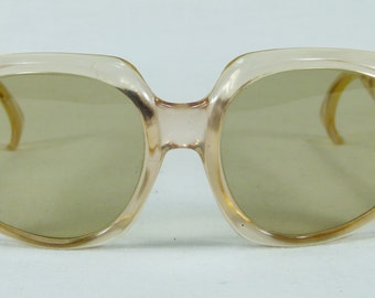 Vintage Retro Polish Opta Kobra Katowice 1960s Large  Oversized Sunglasses Glasses frame