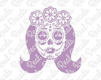 Female Sugar Skull 1 | #RD4 | Vinyl Decal | Oracal 651