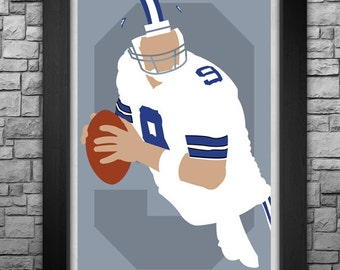 TONY ROMO minimalism style limited edition art print. Choose from 3 sizes!