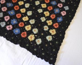 Vintage Crocheted Throw or Baby Blanket