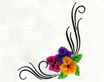 Subtly Elaborate Flower Border Machine Embroidery Design