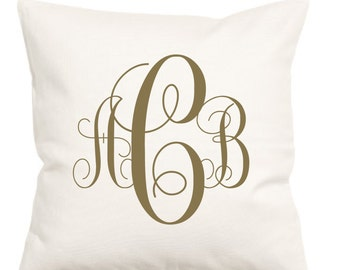 Monogram Pillow Cover, Monogram, Pillow, Home Decor, Monogrammed Pillow, Pillow Case, Monogram, Monogram Pillow, Monogrammed, Decor