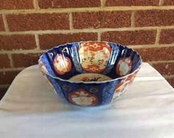 Imari Antique Scalloped Edge Bowl