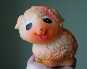 Soviet Rubber sheep  . Soviet Toy. Vintage Toy. Soviet animals. toy.  USSR. Soviet.  sheep.