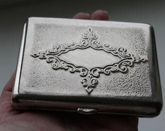 Soviet Cigarette Case. Nickel plated cigarette case USSR.