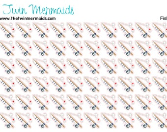 Fishing Pole Planner Stickers