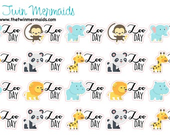 Zoo Day Planner Stickers