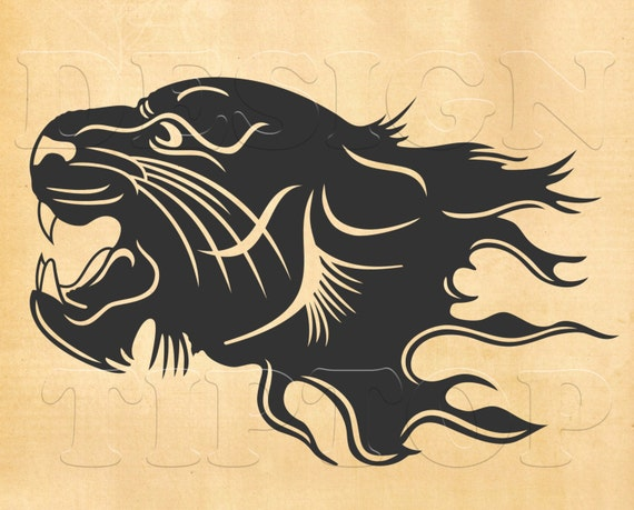 Panther SVG head of a panther svg dxf eps png print and