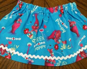 Trolls queen poppy skirt