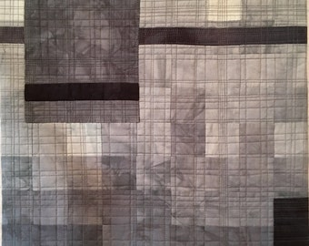 "Art Quilt - ""Living in the Grey"""