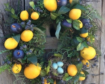 Lemon & Plum Wreath