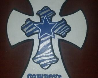 Wooden Dallas Cowboy cross