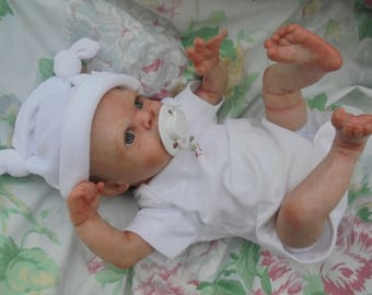 "Sorry sold  orders taken reborn baby Molly realistic prem ature 16"" artist painted JosyNN Moulton sculpt"