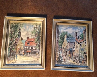 Walter W. Pranke small framed art Portraits