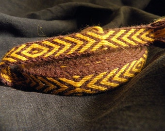 St. Patrick's Day Tablet weaving Tablet woven trim, naturally  dyed wool trim, Viking reenactment, medieval clothing, historical braid