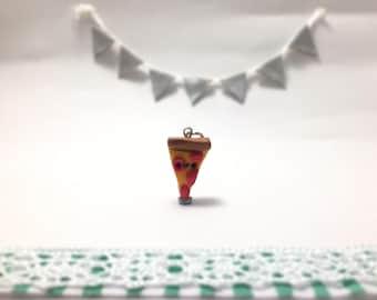 Cute Pepperoni Pizza Fimo Clay Charm