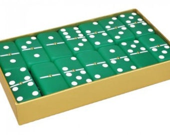 Frosted Emerald Dominoes (Green)