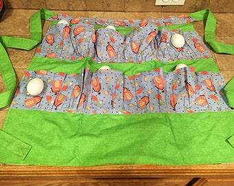 Apron- egg gathering -Handmade