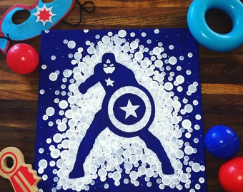 Captain America Painting//Superhero Painting//Avengers//Boy's room painting//Marvel Painting