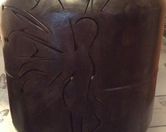 outdoor handmade silhouette fairy fire pit