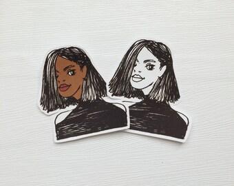 Hip Girls Stickers, Fashion style girls, Variety Sampler, Planner Decor, Burn Sticker