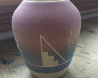 Vintage Navajo American South West Art Pottery Vase - Mid Century