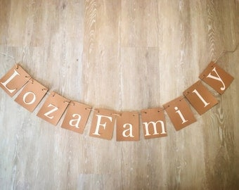 Personalized Family Banner/ Family Name / Family Sign