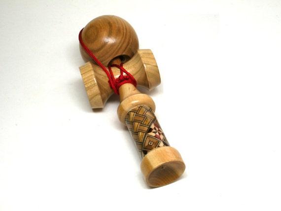 Japanese Wooden Toys : Kendama japanese wooden toy yosegi version hakone famous