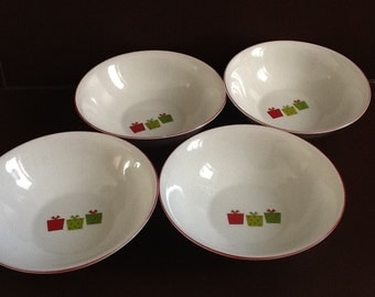 "Mayfair and Jackson ""Presents""  Set of Four Bowls"