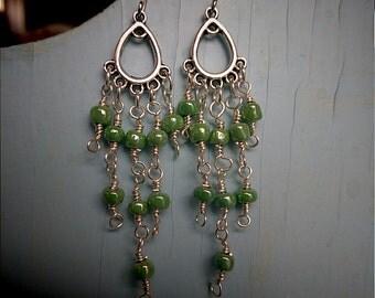 Chezch Glass Chandelier Earrings