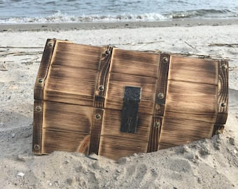 Treasure Chest - Large, Pirate Chest, Pirate Decor, Man Cave Decor, Toy Trunk, Wood, Pirates Chest, Storage