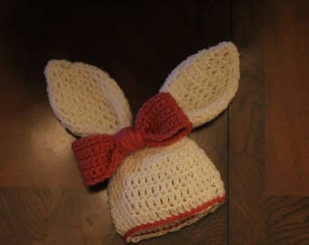 Bunny hat with bow (Premie -> Teenage)