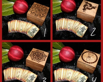 Mini Tarot Cards with Small Boxes