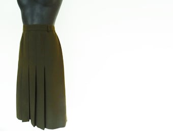 Vintage Pencil Skirt, UK16, 1990s, Dark Green Skirt, Pinup Skirt, Pinup, Secretary, Vintage Clothing, Vintage Skirt, Olive Skirt