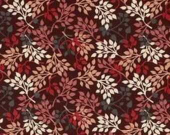 BTHY - Night Owls light Foliage by Exclusively quilters, dark red foliage, by the HALF YARD