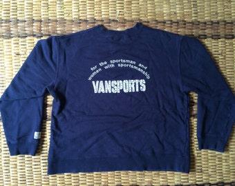 Vintage 90's Vans Sport Ladies Classic Design Skate Sweat Shirt Sweater Varsity Jacket Size M #A594