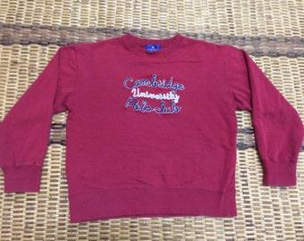 Vintage 90's Cambridge University Polo Club Classic Design Skate Sweat Shirt Sweater Varsity Jacket Size M #A608