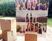MULTI-PACK! Wood Block Photo Card Holder - Works great with Instax Pictures!