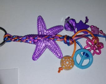 V1 Transparent Purple Starfish Keychain