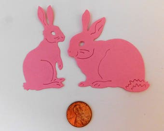 Die Cut Bunnies Paper Rabbits Paper embellishments cardmaking supplies Easter bunny die cut Baby Shower table confetti scrapbooking supplies