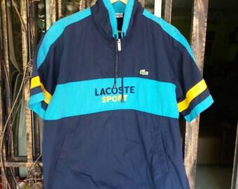 Vintage Lacoste sport sweater spellout embroidery/100 size/sportwear