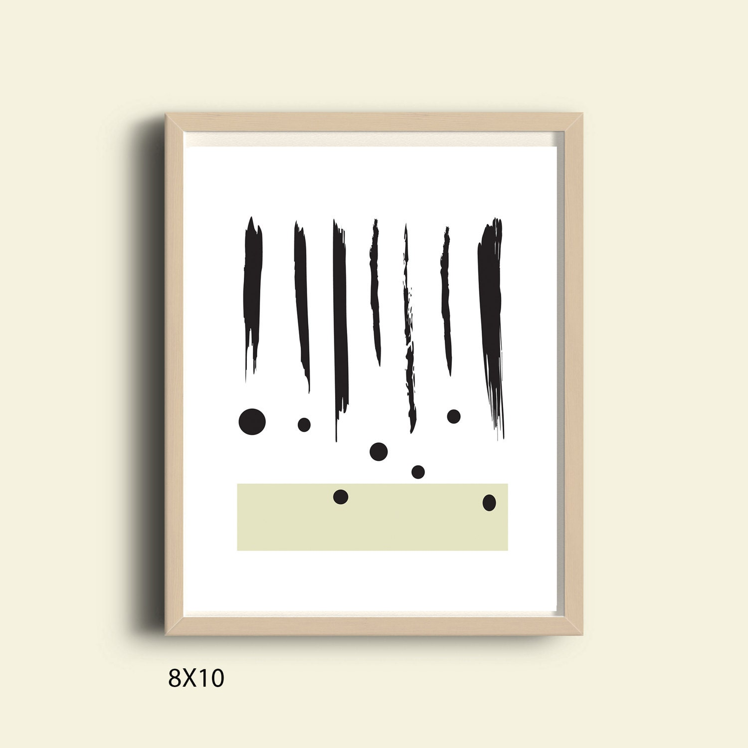 Brush stroke art modern minimalist print printable painting for Modern minimalist wall art