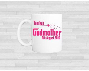 Personalised/Personalized godmother mug