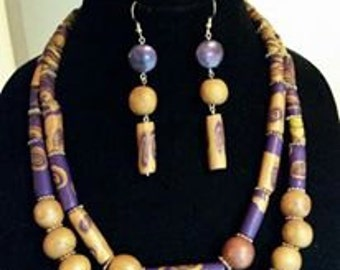 Multi-layered 2pc  Necklace and Earring Set