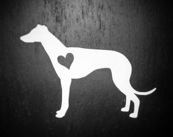 Greyhound Decal, Greyhound Racing, Greyhound Dog, Laptop Decal, Dog Decal, Dog Sticker, Yeti Decal, Pet Accessories, Vinyl, Ipad Decal